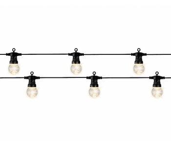 Led lampenslinger 950 cm   20 Lampen   zwart met warm licht