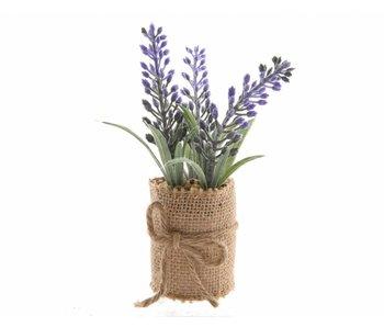 Lavendel in jute - 5x12cm