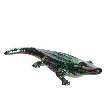 Krokodil porselein | 5.4x9x20cm