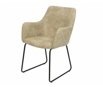 Chaise PES cuir tuir 59x57x87h - gris clair