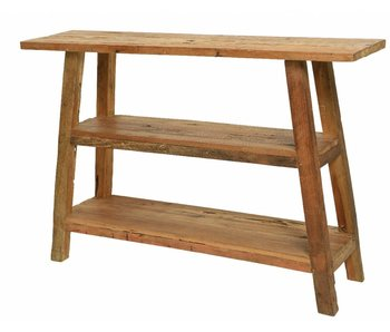 table d'appoint en bois dur 120x30x80h