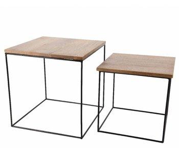 Table d'appoint mangue S  36x36xh36.5cm