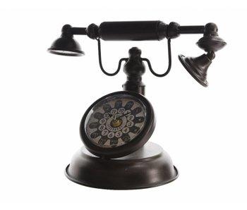 Horloge téléphone en fer 23x17x23 noir
