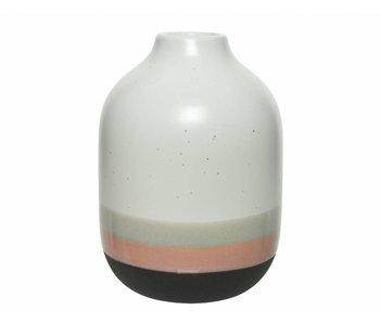 Vase en céramique dia17x24h multicolore