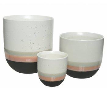 cache-pot en céramique M multicolore