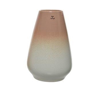 Vaas | Nude roze/grijs | 18cm diameter / 27cm hoog