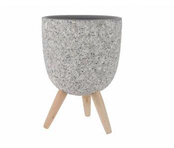 Jardinière grise | 15.5x21.5cm diamètre