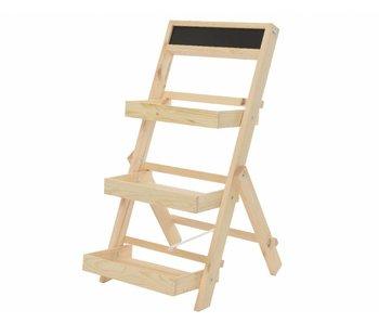 etagere en bois 39x78h