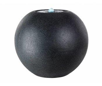 Fontaine LED sphère en granit gris 40x36h
