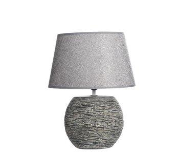 tafellamp 1 keramiek rustiek grijs 20x31x40