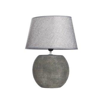 tafellamp 2 keramiek rustiek grijs 20x31x40