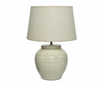 tafellamp keramiek wit craquele 37x54h