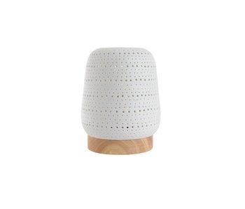 lampe de table line porcelaine blanche 13x13x16.5