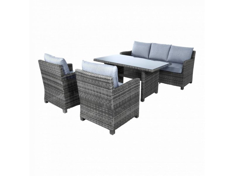 Swing Diningloungeset alu-wicker