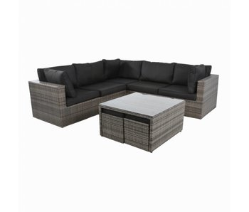 Tacoma Lounge alu wicker 6-dlg