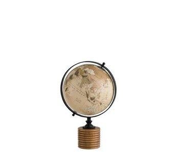 J-Line Copy of Wereldbol op blok klein (14x12x25cm)