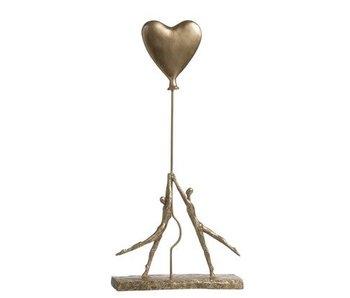 J-Line Koppel met hart in goud h55cm