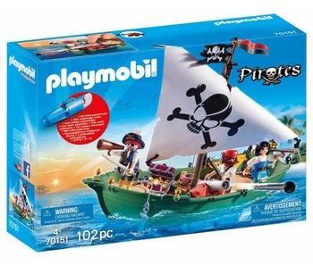 Playmobil Chaloupe des pirates avec moteur submersible 70151