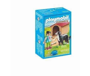 Playmobil Enfant avec chien 70136