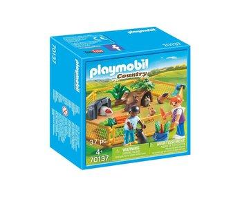 Playmobil Kinderen met kleine dieren 70137