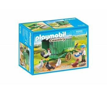 Playmobil Maison de poules 70138