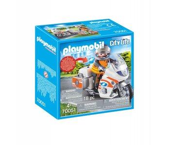 Playmobil Urgentiste et moto 70050