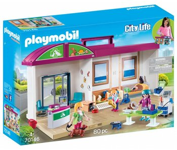 Playmobil Meeneem dierenkliniek 70146