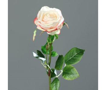 Artificiële bloem : gele/roze  roos