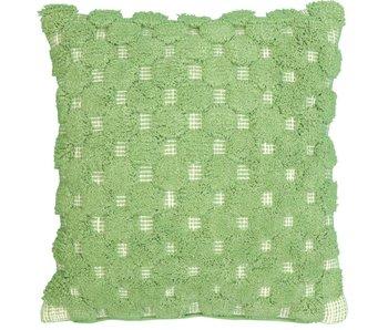 coussin Romy vert basilic 45x45