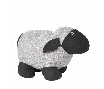 Hamilton Living Arrêt de porte mouton Polly - gris clair 30x14x18 cm