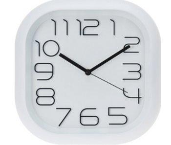 Horloge blanc carré 30 cm