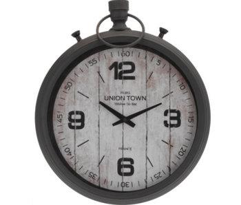 Horloge 40x47 cm gris antique