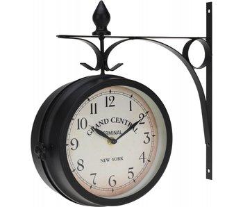 Horloge métal 33x9x33 cm