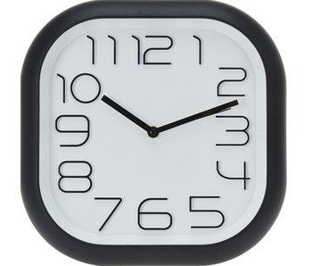 Horloge noir carré 30 cm
