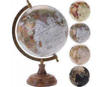 Globe beige + tons marron sur pied 20 cm