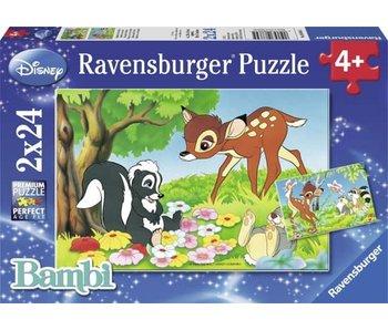 Ravensburger puzzel Bambi en vriendjes 2x24 stukjes