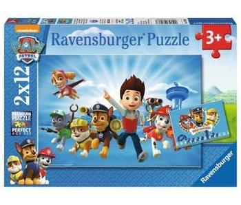 Ravensburger Ryder en Paw Patrol - 2x12 stukjes