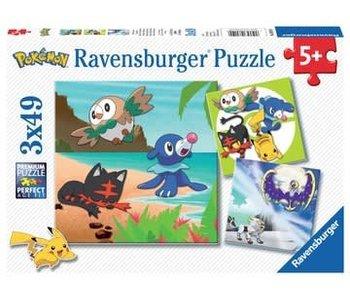 Ravensburger Pokémon soleil et Pok.Lu 3x49 stukjes