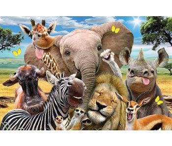 Prime 3d puzzle 63st. Afrika selfie (4+) 31x23cm
