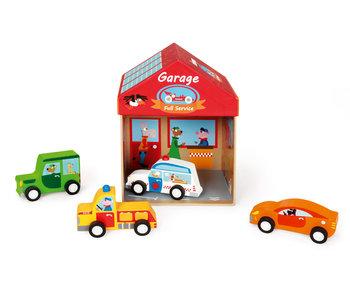 Scratch Preschool boîte à jouets garage 2-en -1 (2+)