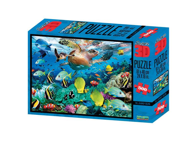 Prime 3D puzzle 500st. De reis begint (6+) 61x46cm