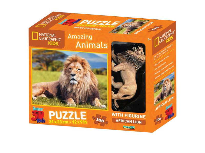 Prime 3D puzzle 100st. Leeuw (5+) 31x23cm