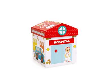 Scratch Preschool boîte à jouets hôpital 2-en-1 (2+)