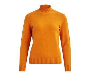 VILA Copy of Viril L/S turtleneck knit top - golden oak - small