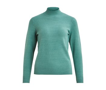 VILA Viril L/S turtleneck knit top - oil blue - XS
