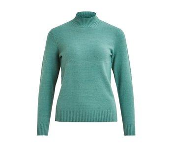 VILA Viril L/S turtleneck knit top - oil blue - large