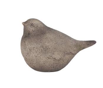 beeld vogel grijsbruin 28x17x8