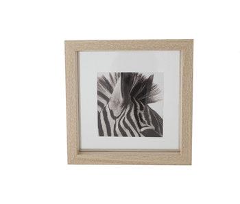 Cadre photo en bois naturel 18.5x4x18.5h