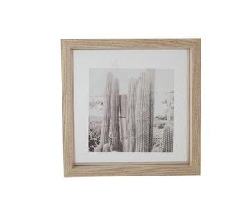 Cadre photo en bois naturel 23.5x4x23.5h