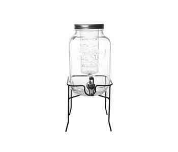 Sapdispenser glas op voet 4 liter + ijshouder